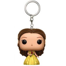 Beauty and the Beast Pocket Pop Vinyl! Keyring -