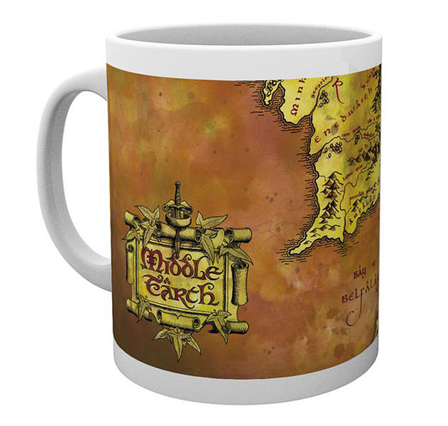 The Lord of the Rings Mug Map