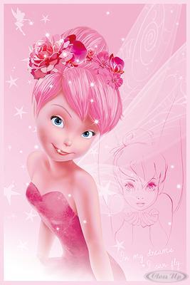 Disney Fairies Poster Tink Pink Tinkerbell (Peter Pan)