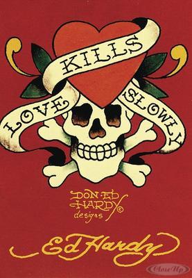 Ed Hardy Postkarte Love Kills Slowly