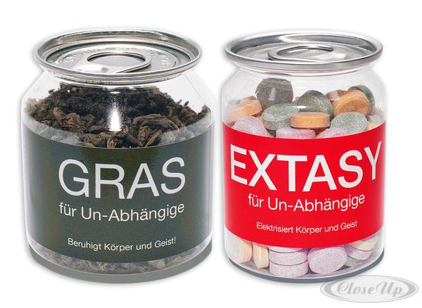 """Extasy"""" & """"Gras"""" für Un-Abhängige - Scherzartikel"""