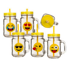 Emoji Glass Set of 6