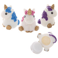 Unicorn lip balm set of 3