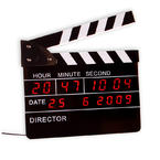 MOVIE CLAPBOARD LED ALARM CLOCK
