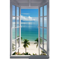 Beach Window Poster
