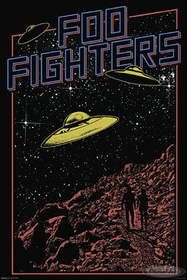 Foo Fighters Poster Ufos