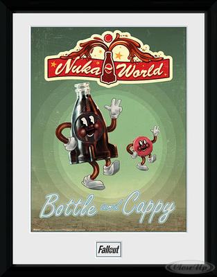 Fallout Collector Print Bottle and Cappy (Nuka Cola)