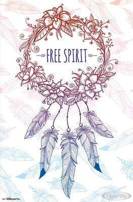 Free Spirit Poster Traumfänger