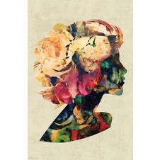 Flower Woman Poster