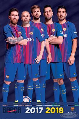 FC Barcelona Poster Mannschaft Saison 2017/2018