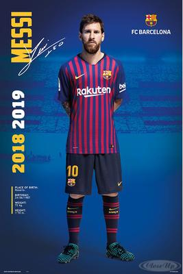 FC Barcelona Poster Messi Saison 2018/2019