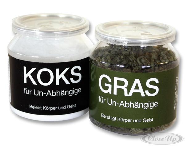 """Gras"""" & """"Koks"""" für Un-Abhängige - Scherzartikel"""