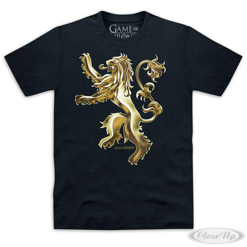 game of thrones t shirt house lannister wappen t shirts jetzt im shop bestellen close up gmbh. Black Bedroom Furniture Sets. Home Design Ideas