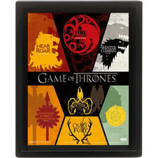 Game of Thrones 3D Poster