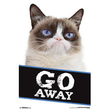 Grumpy Cat Poster Go Away