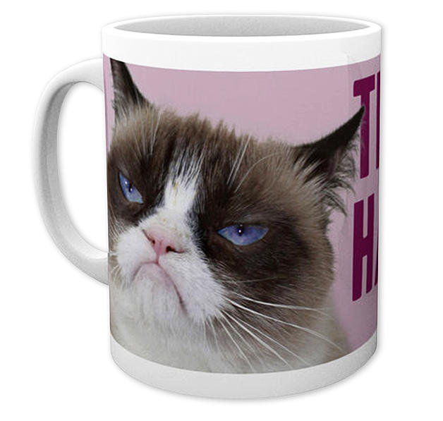 grumpy cat tasse this is my happy face bei close up im shop. Black Bedroom Furniture Sets. Home Design Ideas