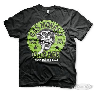Gas Monkey Garage Green Logo T-Shirt | Baumarkt > Garagen und Carports > Garagen | Green