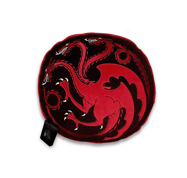 game of thrones kissen targaryen rund 37cm gro. Black Bedroom Furniture Sets. Home Design Ideas