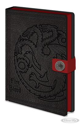 Game of Thrones Premium Notizbuch Targaryen | Dekoration > Accessoires