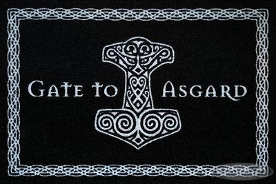 Gate to Asgard Fußmatte schwarz | Heimtextilien > Fussmatten | Schwarz