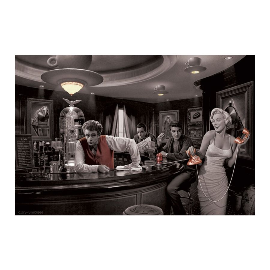 hollywood legends bar poster java dreams poster gro format jetzt im shop bestellen close up gmbh. Black Bedroom Furniture Sets. Home Design Ideas