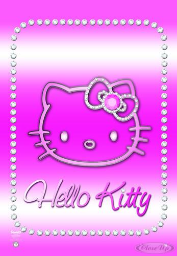 hello kitty poster bling poster gro format jetzt im shop bestellen close up gmbh. Black Bedroom Furniture Sets. Home Design Ideas