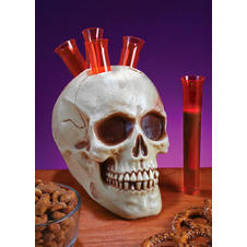Halloween skull shot holder