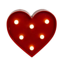 Heart shaped Lamp with LED Function