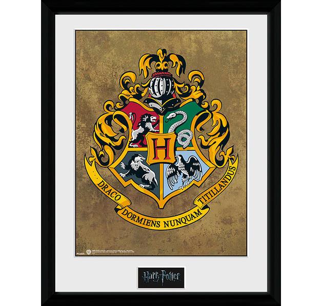 harry potter collector print hogwarts wappen gerahmte kunstdrucke jetzt im shop bestellen. Black Bedroom Furniture Sets. Home Design Ideas