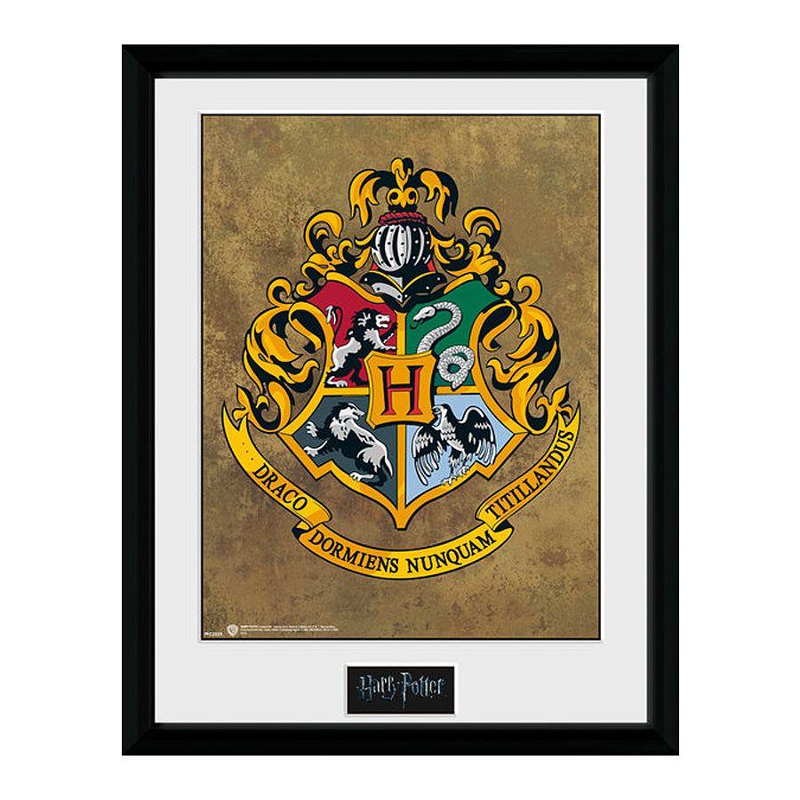 harry potter collector print hogwarts wappen gerahmte. Black Bedroom Furniture Sets. Home Design Ideas