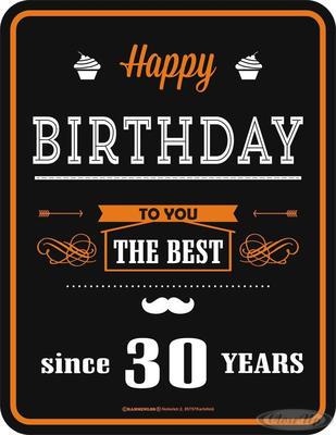 Happy Birthday 30 Blechschild