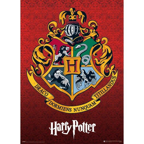 harry potter metallic poster hogwarts wappen kunstdrucke jetzt im shop bestellen close up gmbh. Black Bedroom Furniture Sets. Home Design Ideas
