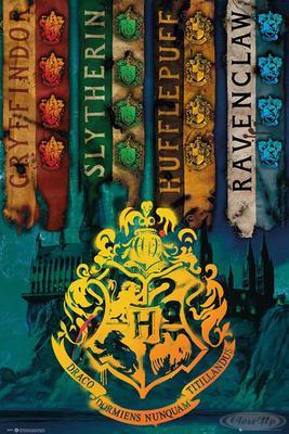 Harry Potter Poster Hogwarts Häuserwappen | Dekoration > Bilder und Rahmen > Poster