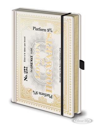Harry Potter Premium Notizbuch Hogwarts Express Ticket | Dekoration > Accessoires