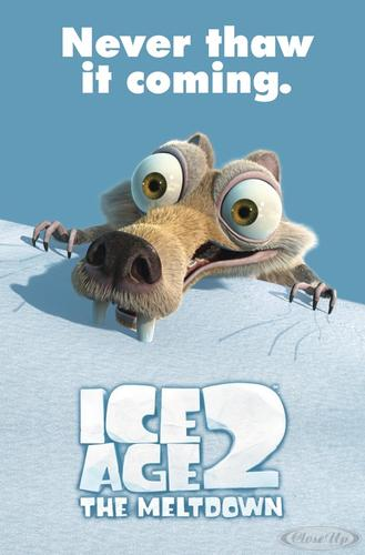 Ice Age 2 The Meltdown Poster Scrat Never thaw it coming!