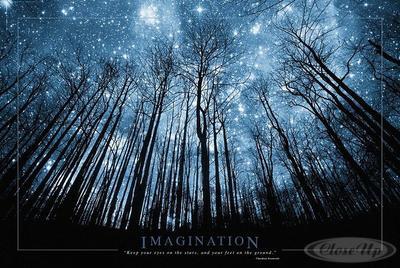 Imagination Poster Baum & Sternenhimmel