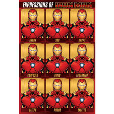 Iron Man Poster Expressions of