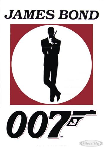 James Bond Poster 007 Gun Logo