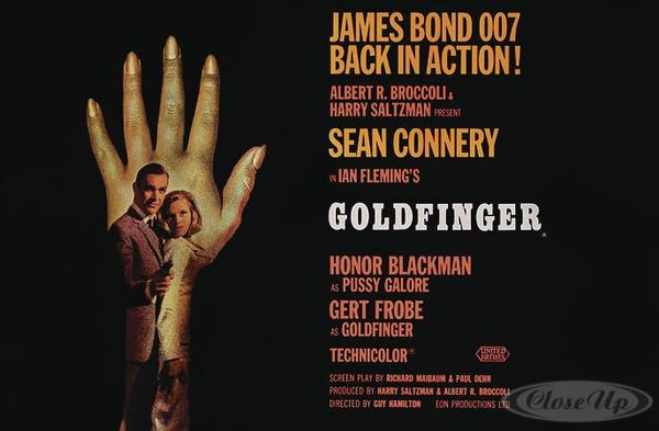 James Bond Goldfinger Poster