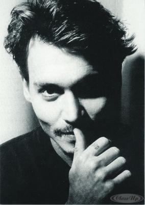 Johnny Depp Postkarte