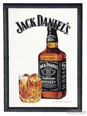 Jack Daniel´s Spiegel Glass & Bottle