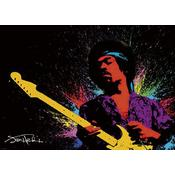Jimi Hendrix Poster Paint Jimi with guitar