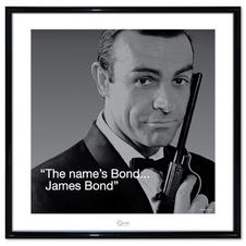 "Artprint James Bond ""The Name's Bond"" with frame"
