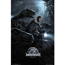Jurassic World Poster Raptoren