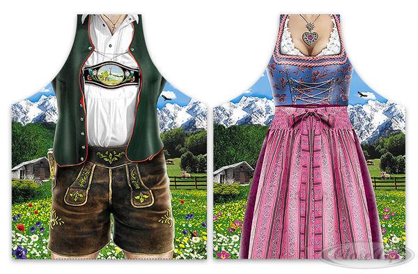 Kochschürzenset Dirndl & Lederhose (Bayerische Tracht) - Sonstige Textilien