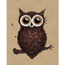 Coffee Owl Poster