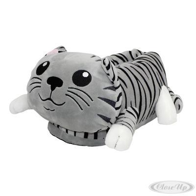 Katzen Plüsch-Hausschuhe