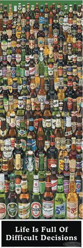 Bier Poster Life is full of Difficult Decisions