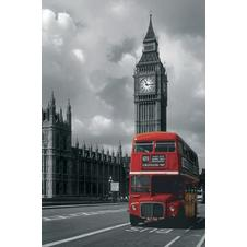 LONDON POSTER RED BUS