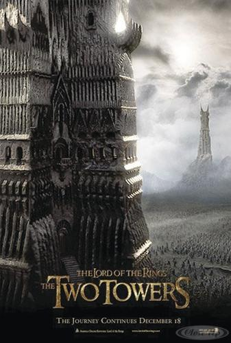 Herr der Ringe Postkarte the two Towers